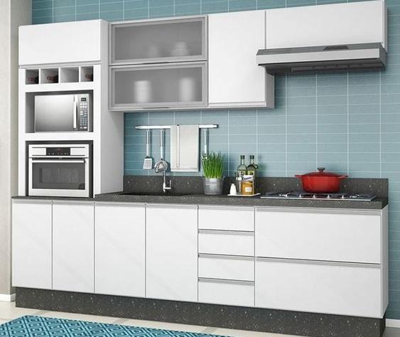 Kitchen Set Murah Tipe White Simple Line